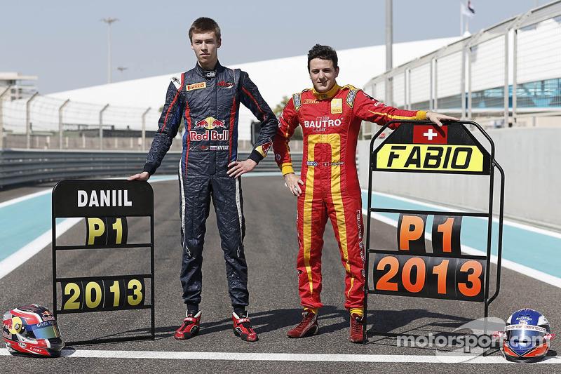 2013 GP2 champion Fabio Leimer and GP3 champion Daniil Kvyat