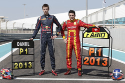 2013 GP2 champion Fabio Leimer and GP3 champion Daniil Kvyat
