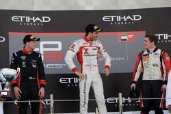 Racewinnaar Tio Ellinas, 2e plaats Dean Stoneman, 3e plaats Conor Daly