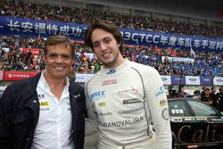 Fernando Monje, SEAT Leon WTCC, Campo Racing and his father