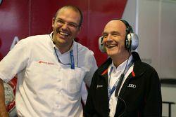 Chris Reike, chefe da Audi LMP1, e o Dr. Wolfgang Ullrich, diretor da Audi Motorsport