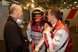 Dr. Wolfgang Ullrich, chefe da Audi Motorsport, Benoit Treluyer e Marcel Fässler