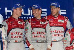 Os vencedores Andre Lotterer, Benoit Tréluyer, Marcel Fässler