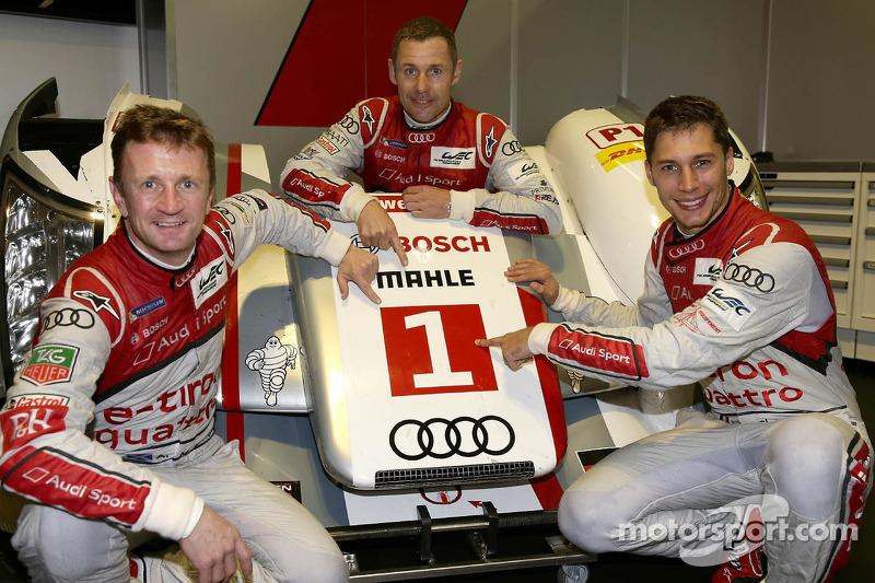 Loic Duval, Tom Kristensen y Allan McNish (2013)
