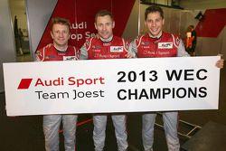2013 World Champions Loic Duval, Tom Kristensen, Allan McNish