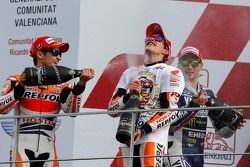 Podio campeonato: Marc Márquez, Jorge Lorenzo, Dani Pedrosa