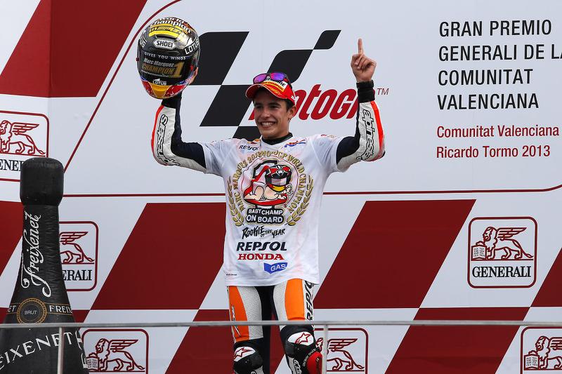 Campeón Marc Márquez, del equipo Repsol Honda 2013