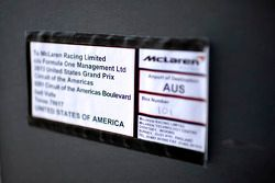 Shipment order for McLaren