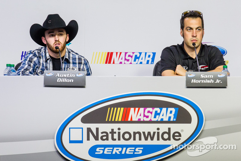 Persconferentie titelfavorieten: NASCAR Nationwide Series kanshebbers Austin Dillon en Sam Hornish