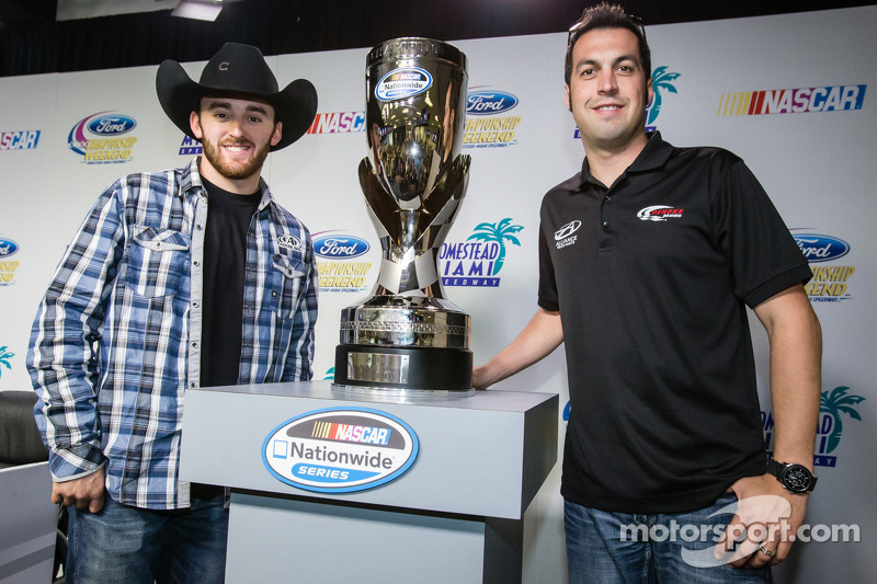 Persconferentie titelfavorieten:  NASCAR Nationwide Series kanshebbers Austin Dillon en Sam Hornish Jr.