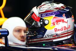 O capacete de Sebastian Vettel, Red Bull Racing RB9