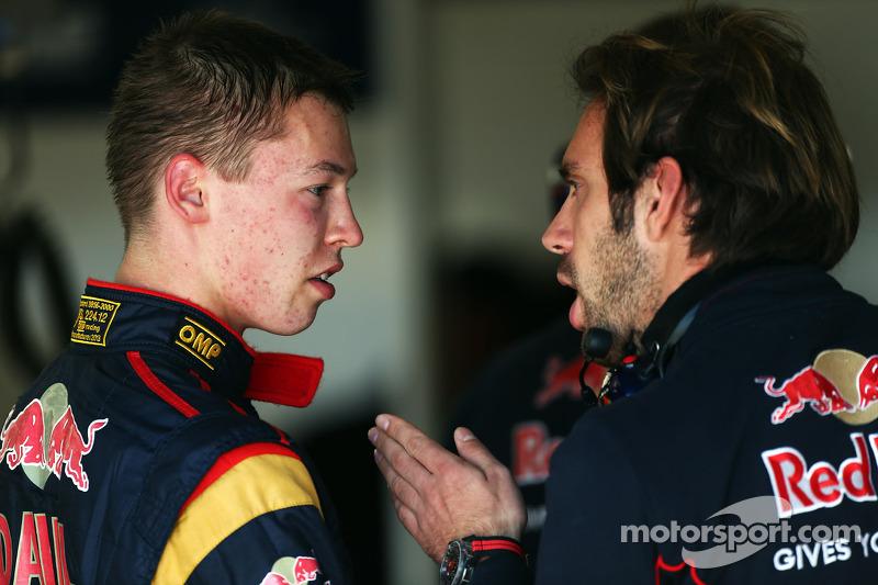 Kvyat testou um F1 pela primeira vez em 2013, pela Toro Rosso, que tinha Vergne (foto) e Ricciardo como pilotos