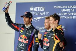 Mark Webber, Sebastian Vettel, Romain Grosjean