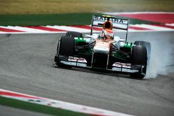 Adrian Sutil, Sahara Force India VJM06 verremt zich