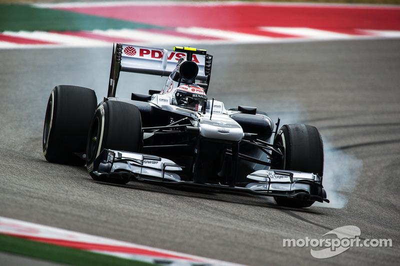 Valtteri Bottas, Williams FW35 lastiklerini kilitliyor