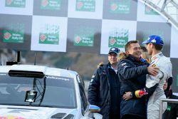Jost Capito avec le vainqueur Sébastien Ogier