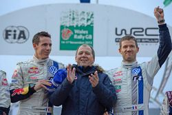 I vincitori Sébastien Ogier e Julien Ingrassia, Volkswagen Polo WRC, Volkswagen Motorsport