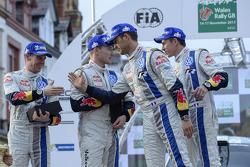Vencedores Sébastien Ogier e Julien Ingrassia, Segundos colocados Jari-Matti Latvala e Miikka Anttila