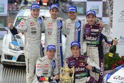 Vencedores Sébastien Ogier e Julien Ingrassia, Segundos colocados Jari-Matti Latvala e Miikka Anttil