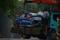 Fredy Barth, BMW 320 TC, Wiechers-Sport after the crash