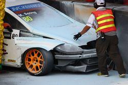 Michael Soong, Seat Leon WTCC, Campos Racing crasht