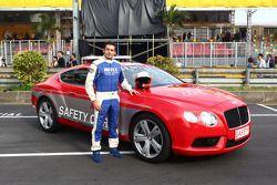 Bruno Correira, Safety Car official driver near the Bentley Safety Car