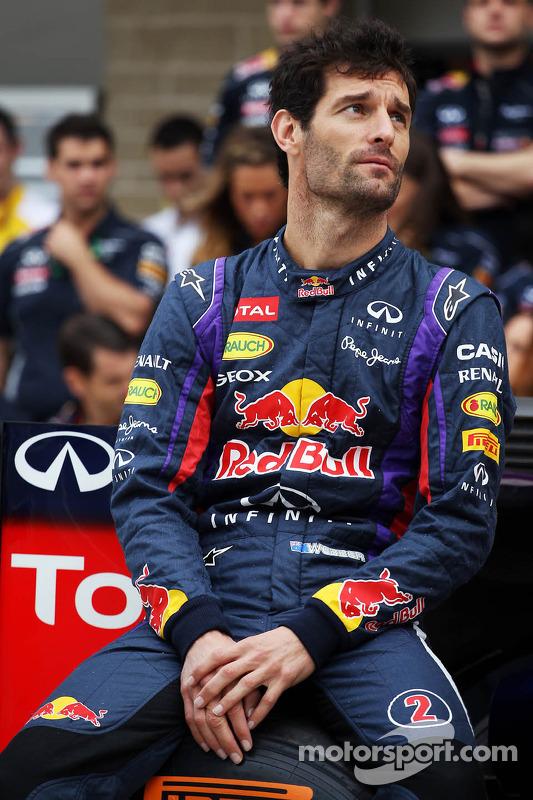 Mark Webber, Red Bull Racing em um foto da equipe