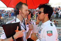 Sergio Pérez, McLaren con Mark Temple, McLaren ingeniero de carrera