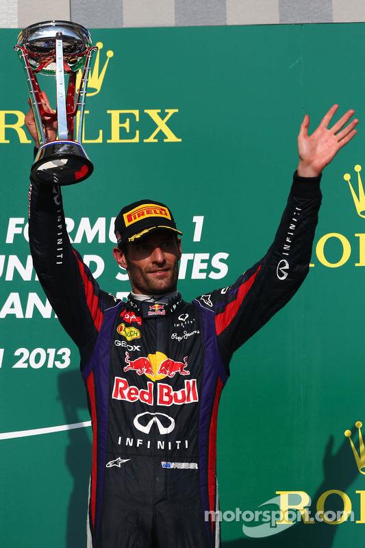 terceiro colocado Mark Webber, Red Bull Racing