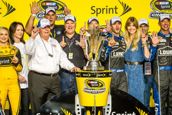 Championship victory lane: NASCAR Sprint Cup Series 2013 champion 2013 Jimmie Johnson, Hendrick Moto