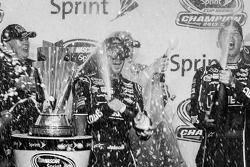 Championship victory lane: NASCAR Sprint Cup Series 2013 champion 2013 Jimmie Johnson, Hendrick Moto