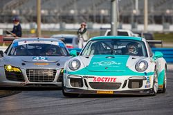 #29 Konrad Motorsport Porsche GT America: Franz Konrad, Lance Willsey, #45 Flying Lizard Motorsports