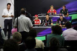 Max Chilton, Marussia F1 Team; Giedo van der Garde, Caterham F1 Team; Felipe Massa, Ferrari; Mark Webber, Red Bull Racing; Jean-Eric Vergne, Scuderia Toro Rosso