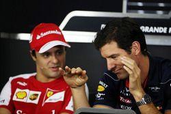 Felipe Massa, Ferrari con Mark Webber, Red Bull Racing