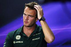 Giedo van der Garde, Caterham F1 Team in the FIA Press Conference