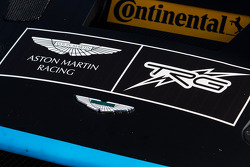 #66 TRG-AMR Aston Martin Vantage signage and logo