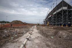 De bouwput van het Daytona Rising project