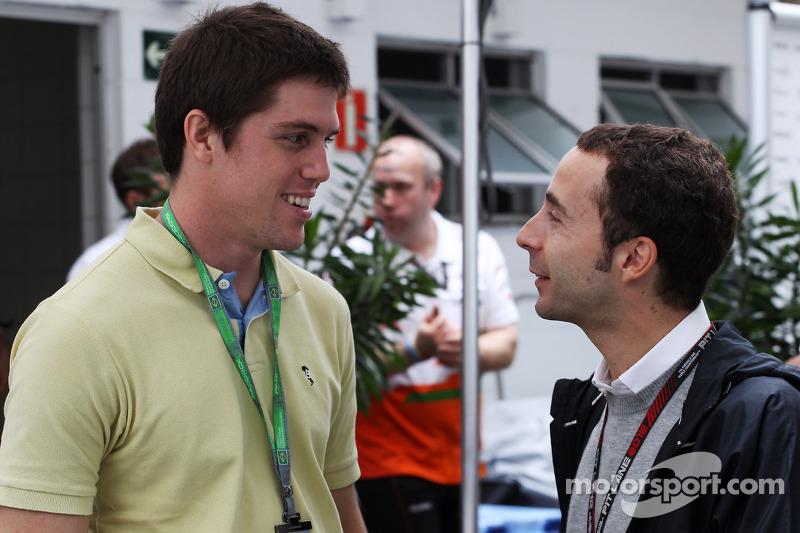 (L naar R): Luiz Razia, met Nicolas Todt, Manager