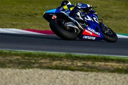 Randy de Puniet tests the new Suzuki XRH-1 for 2015