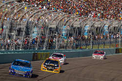 Aric Almirola, Richard Petty Motorsports Ford and Jeff Burton, Richard Childress Racing Chevrolet