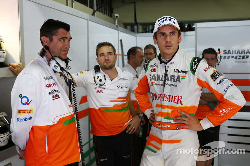 Bradley Joyce, Sahara Force India F1 Race Engineer, en Adrian Sutil, Sahara Force India F1