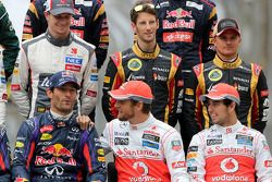 Mark Webber, Red Bull Racing y Jenson Button, McLaren Mercedes