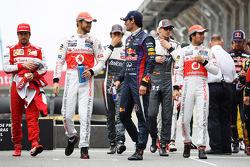 Jenson Button, McLaren y Mark Webber, Red Bull Racing