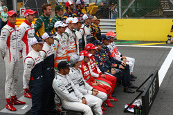 Foto de grupo, pilotos, final de temporada
