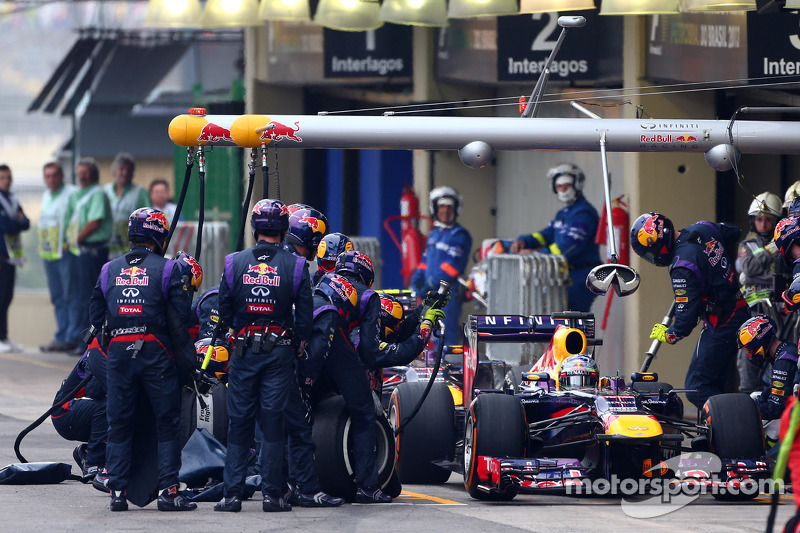 Sebastian Vettel, Red Bull Racing RB9 y Mark Webber, Red Bull Racing