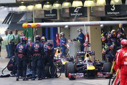 Sebastian Vettel, Red Bull Racing RB9 y Mark Webber, Red Bull Racing