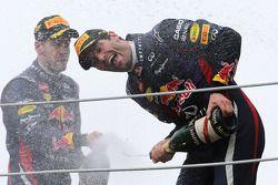 Mark Webber, Red Bull Racing y Sebastian Vettel, Red Bull Racing