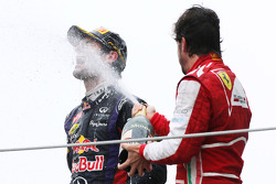 Mark Webber, Red Bull Racing y Fernando Alonso, Scuderia Ferrari