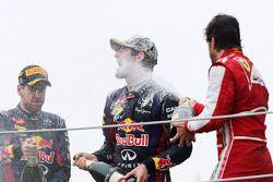 Sebastian Vettel, Red Bull Racing, Mark Webber, Red Bull Racing y Fernando Alonso, Scuderia Ferrari