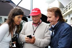 Niki Lauda, Mercedes Non-Executive Chairman with Emerson Fittipaldi